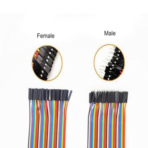 40P DuPont Cables 10-40 M-F M-M F-F Color Jumper Breadboard Wire GPIO Pi Arduino