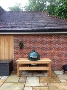 Details About Made To Measure Extra Large English Oak Green Egg Barbecue Table Do