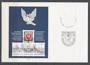 Switzerland-Sc-B563-B607-souvenir-sheet-FDCs-1990-and-1995-issues-oversize