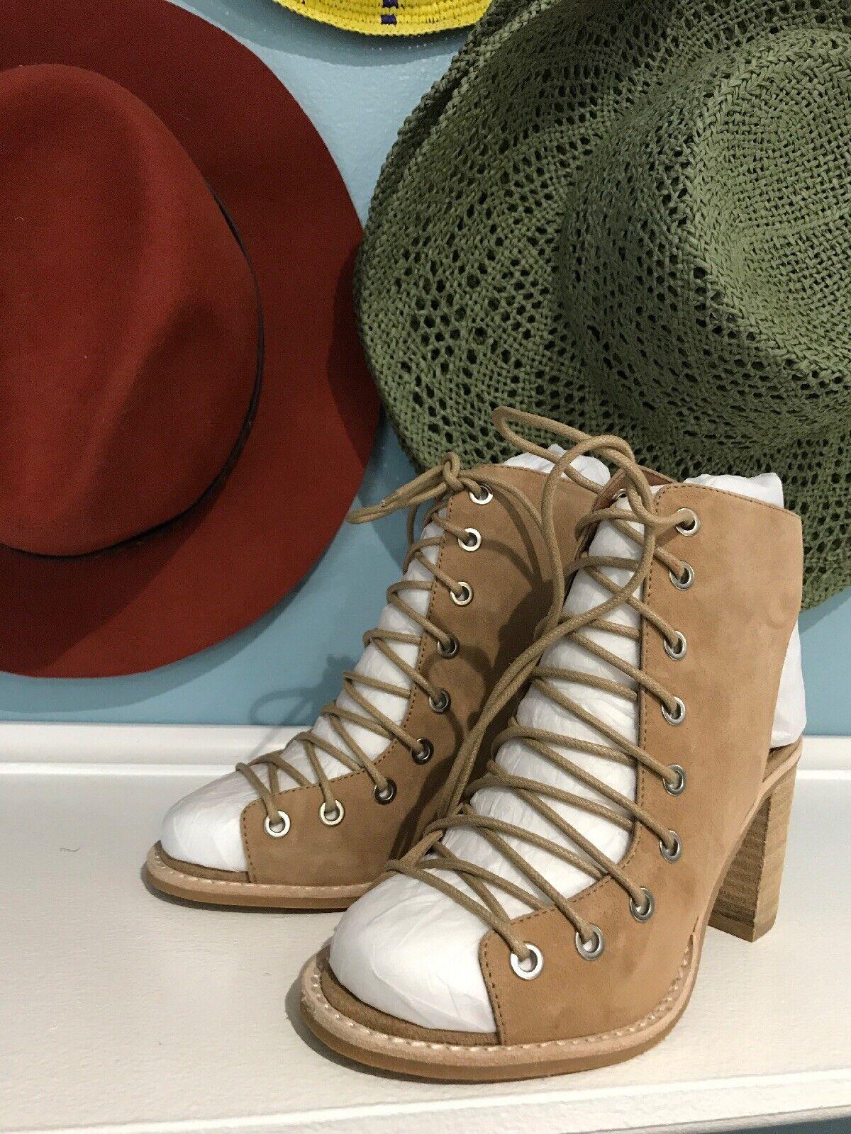 calidad fantástica Nuevo Jeffrey Campbell CORS Con Con Con Cordones Botines De Cuero tan botas Tacones  venta mundialmente famosa en línea