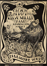 Chuck Berry Steve Miller Fillmore Repro Tour POSTER