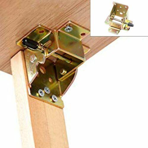 4x Iron Locking Folding Table Chair Leg Brackets Hinge Self Lock Foldable Hinges