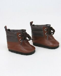 Brown-Tie-Boots-fits-American-Girl-Dolls-amp-18-034-Dolls-Perfect-for-Boy-Dolls-Logan