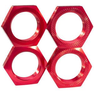 Intelligent Aluminium Écrous De Roue 24 Mm 6-bord Rouge Pour 1:5 1:6 Rc Voiture Grands