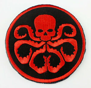 Embroidered Agents of S.H.I.E.L.D. shield Hydra Patch shield 70mm -D867