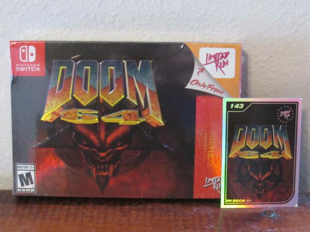 Doom 64 Classic Edition +Card #143 (Nintendo Switch, 2021) BRAND NEW