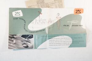 Catalogue Wilkens Couverts Sammelbestecke 1950er Ans Bijoux Prospectus B5093-afficher Le Titre D'origine Une Gamme ComplèTe De SpéCifications