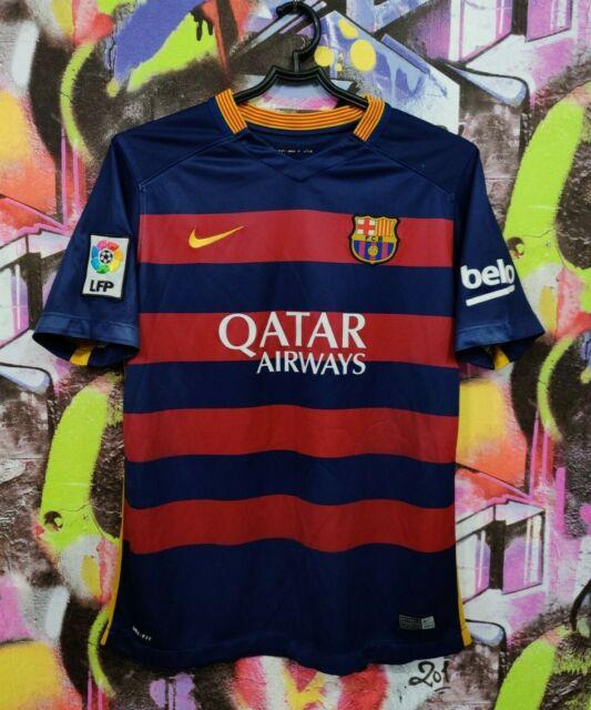 Barcelona Barca Spain Football Shirt Soccer Jersey Top Nike 2015 Youth size XL