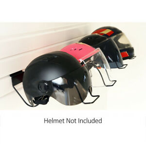 Image is loading Bicycle-Motorcycle-Helmet-Holder-Storage-Shelves -Wall-Hanger-  sc 1 st  eBay & Bicycle Motorcycle Helmet Holder Storage Shelves Wall Hanger Rack ...