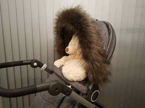 Pram Fur Hood Furs Trim Baby Pram Buggy Pushchair Parts Universal Fit