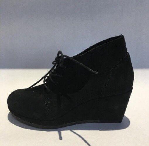 Clark's Women's Women's Women's Wedge Suede Bootie   shoes, Black,  Size 7 US 394419