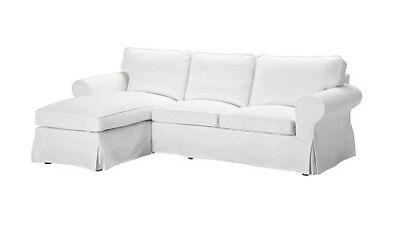 Tremendous Ikea Ektorp 3 Seat Sofa Cover With Chaise Lounge Cover Blekinge White 901 835 33 Ebay Machost Co Dining Chair Design Ideas Machostcouk