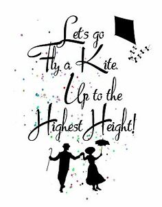 Image Is Loading Watercolor Pop Art Print MARY POPPINS Song Quote