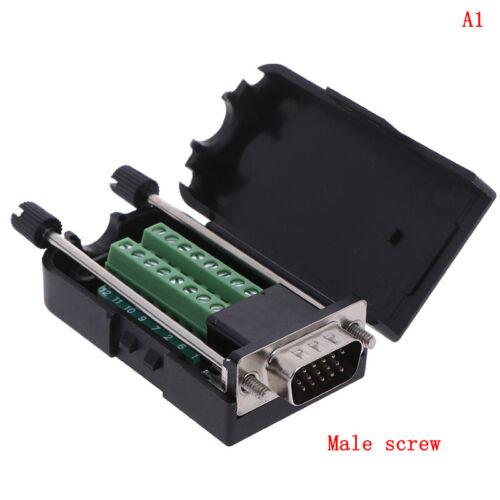 D-SUB DB15 VGA Male 3 Rows 15 Pin Plug Breakout Terminals Connector/>v xlBWUKSFHW