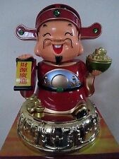 """10""""H Chinese Fengshui Mammon Money Wealth God Hold Yuan Bao Statue"""