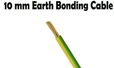 Earth Green Yellow 10mm Single Core 6491X Cable 10 Meter 10M Bonding