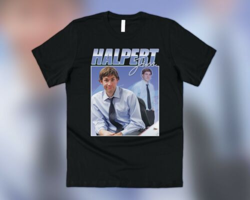 Jim Halpert HOMAGE T-shirt Tee Drôle le bureau américain american années 90 rétro gros thon