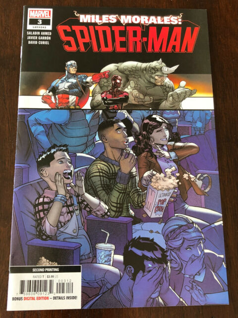 Miles Morales: Spider-Man #3 2nd Printing Marvel - NM - Low Print Run