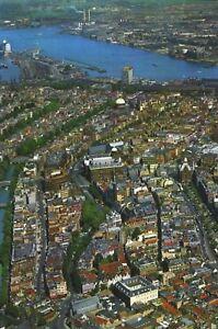 Amsterdam-Holland-Aerial-View-Unused-Vintage-Postcard-D28