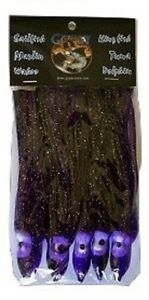 "PURPLE//BLACK 4 Packs 20 Skirts Gypsy Lures Trolling Skirts 4 1//2/"" 5pk"