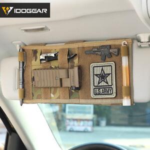 IDOGEAR-Tactical-Visor-Panel-MOLLE-Vehicle-Car-Sun-Visor-Army-Organizer-Pouch