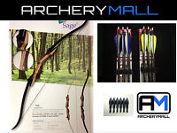 Samick Sage Recurve Bow 62choose Rh/lh 20,25,30,35,40,45,50lb(6 Feather Arrows)