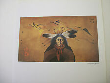 """Frank Howell """"Grandfather's Echoes"""" Print Native American Indian Art Southwest"""