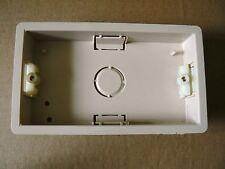 10 X TWIN DOUBLE DRY LINING PLASTERBOARD BOX 25mm Beige patress pattress