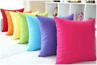 """Solid Candy Colors Simple Design Micro Suede Pillow Case Cushion Cover 19"""" PG"""