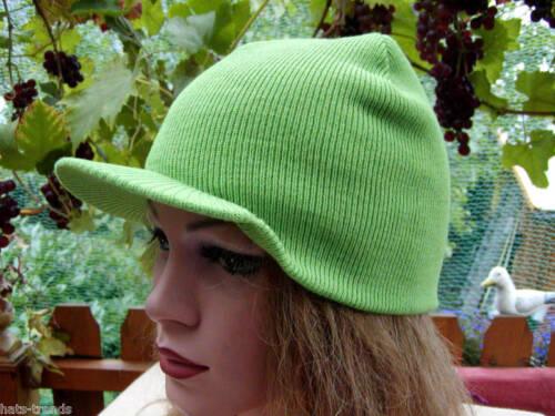 Strickmütze mit Visior Schildmütze Stirnband warm Wind und Sonne in 6 Farben