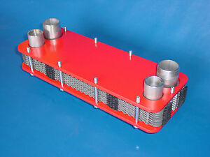 Swimming Pool Bolt Plate Heat Exchangers 71kw Stainless Steel Solar Recuperator Ebay