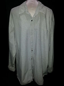 WRANGLER-Jeans-Co-Mens-Long-Sleeve-Button-Front-Shirt-3XL-Brown-White-Stripe