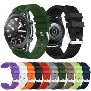 For Samsung Galaxy Watch 3 (45mm) Silicone Fitness Replacement Wrist Band Strap