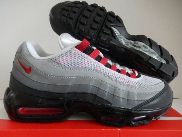 new product 4cf2c d1e03 NIKE AIR MAX 95 ID GREY-WHITE-BLACK-HOT RED SZ 10.5