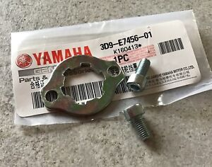 Genuine-Yamaha-YBR125-2006-2015-Front-Sprocket-Retaining-Plate-And-Bolts-3D9