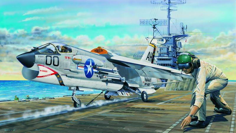 Trumpeter 02272 - 1 32 F-8E Crusader - Neu  | Starker Wert
