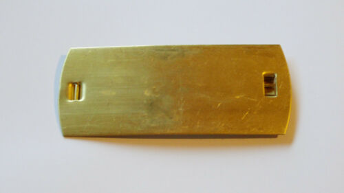 Ordensblech Große Ordensschnalle Messing für 4 Orden ca 120x40mm gelötet neu