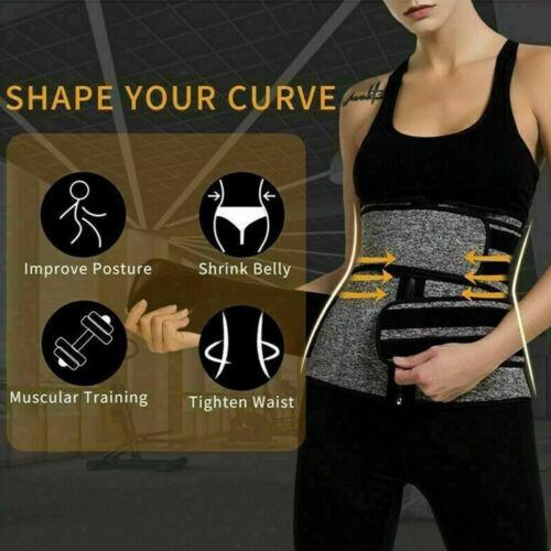 Waist Trainer Corset Sauna Sweat Weight Loss Body Shaper Fitness Shapewear Belt