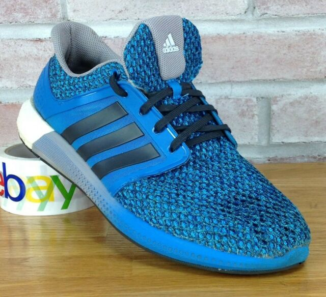 Adidas Boost Mens Size 10 M Energy Blue Black Cushion Running Shoes Solar S42177