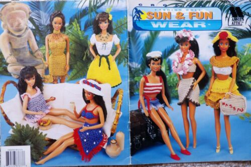 Handmade Vintage Style Crocheted Barbie  Sun Hat  You Choose Color