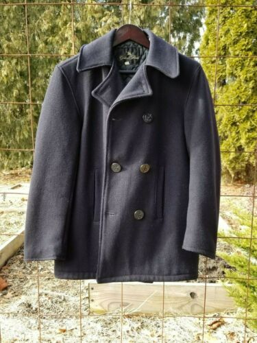 Vintage Golden Fleece Navy Pea Coat - 1970's Vinta