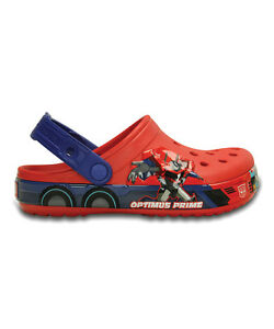 51132c3208 New Crocs Transformers Optimus Prime Clog Glow-in-the-Dark Boys 6 7 ...