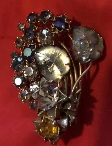 Vintage Signed Triad Starburst Brooch