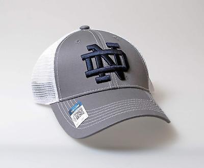 new product 3d2a7 5cfc6 Notre Dame Fighting Irish Adjustable Gray Mesh Snapback Cap NCAA Hat