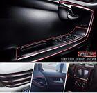 5M AUTO ACCESSORIES CAR Universal Interior Decorative Red Strip CHROME Shiny