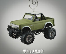 1973 Sage Army Green Ford Bronco 4x4 Custom 1/64 Christmas Ornament Emblem