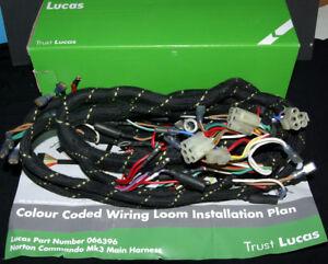 Super 06 6396 066396 06 6396 Norton Mk3 Kabelbaum Gewebe Lucas Wiring Wiring Digital Resources Unprprontobusorg