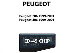 id45 peugeot 206 406 transponder chip for key remote. Black Bedroom Furniture Sets. Home Design Ideas