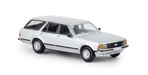 Brekina-19517-Ford-Granada-II-Estate-Metallic-Silver-Td-Car-Model-1-87-H0
