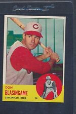 1963 Topps #518 Don Blasingame Reds Nm/mt